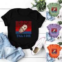 Women's T-Shirt Short-sleeved T-shirts Until The Crocodile Is Dead, Slippers, Letter Printing, Cruel CROC TILL I DIE Top