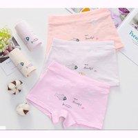 Panties 2021 S Girl Underwear Arrived Kids Cartoon Boxer Short Children 5pcs lot 1-13y Teenager Cotton
