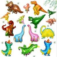 رقائق الديناصور البالونات الأولاد الحيوان ديكور عيد ميلاد بالون الألومنيوم فيلم حزب الديكور اكسسوارات GWB7802