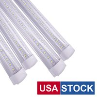 T8 Integrated Double Line Led Tube 4Ft 36W 50W 8Ft 72W 100W 144W SMD2835Light Lamp Bulb 96'' Dual Row Lighting Fluorescent Replacement AC85-265V USA STOCK usalight