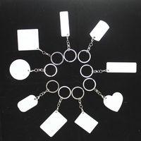빈 승화 가방 펜던트 액세서리 매력 키 체인 파티 호의 펜던트 양면 인쇄 가능한 사용자 정의 장식품 매달려 버클 wy1495와 알루미늄 시트