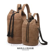 Backpack Fashion Men's Leisure Bag Korean Canvas Trend And Women's Couple's Water Tube Basketball