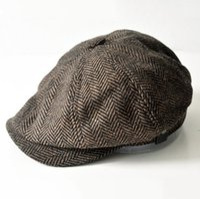 Vintage England Style Newsboy Cappello Design Dark Design Design Uomini e donne Common Moda Cappelli Due stili Multi Dimensione Commercio all'ingrosso misto