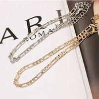 Gioielli europei e americani del commercio estero moda semplice e versatile catena di metallo catena di cavigliera da donna 522 T2