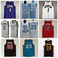 NCAA Erkekler 1 Mcgrady Basketbol Jersey Kuzey Carolina Tar Topuklu Michael 23 Vince 15 Carter Tracy 33 Pippen Formalar
