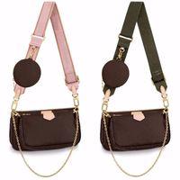 Çok Pochette Accessoires Tasarımcılar Omuz Çantaları Lüks Kadınlar Crossbody Deri Çanta Çantalar Bayan Tote Sikke Çanta Cüzdan