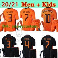 Adulto 21 22 Países Bajos para hombre y niños Ligt Cruyff Soccer Jersey Memphis Holland Sneyjde Gullit 2021 2022 Wijnaldum Promes de Jong Virgil