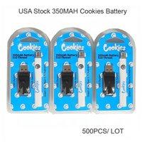 ABD hisse senedi kurabiye vape pil 510 iplik kartuş pilleri 350 mAh vapes kalem pil USB şarj portu blister ambalaj ile ayarlanabilir voltaj değişken