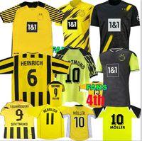 Retro Classic 1995 96 97 98 2000 01 02 03 2012 2013 Jerseys de futebol de Borussia Roskandowski Moller Dortmund Reus Retro Camisa de Futebol Retro