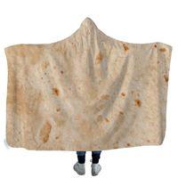 Corn Hooded Blankets 200*150cm Sherpa Cape Burrito Towel Soft Winter Fleece Throw Outdoor Blanket Pads GWE5328