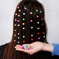 Hair Clips Mini Claw For Women Girls Cute Candy Colors Plastic Hairpins Braids Maker Beads Princess Accessorie