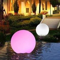 Telecomando per esterni LED luci da giardino luci di illuminazione a sfera di illuminazione Glow lampada a prato per lampada ricaricabile Piscina ricaricabile festa di nozze feste feste lampade