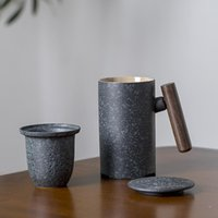 Mugs Japanese Ceramic Tea With Filters Coffee Cup 300ml