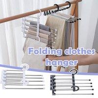 Hangers & Racks Foldable Pants Rack Multifunction Closet Belt Holder S-type Wardrobe Hanging Bags Socks Organizer Trousers Hanger
