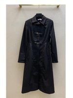 Women's Trench Coats 2021 Autumn Winter Long Sleeve Lapel Neck Jackets Designer Brand Same Style Outerwear 0916-7
