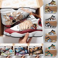 2021 مخصص diy أحذية 1 13 أنيمي المصممين أحذية رياضية الإبداعية القراصنة الأسود القط النار الأحمر رجل كرة السلة الأحذية 3d الكرتون تخصيص المدربين المشي الجري