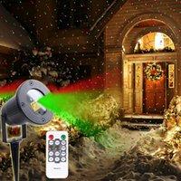 Lampade da prato inglese Thrissdar natale lampada proiettore laser con remoto esterno giardino frigorifere a feste partito