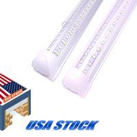 V-shaped 2ft 3ft 4ft 5ft 6ft 8ft cooler porta LED tubos T8 lados duplos integrados luzes 85-265V Bulbs Stock em nós