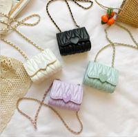 Baby Bag Girls Messenger PU Handbag Fashion Princess Shoulder Bags Clutch Purse Lovely Accessories 6 Colors Optional BT6653