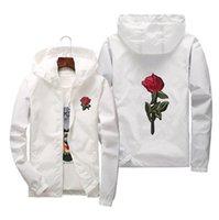Rose Jacket Outdoor Ventola da uomo da donna THE GENDER-BAMBINO ATTIVATO ASSISTENTE Bianco e nero Rose Black Outwear Cappotto Giacche Plus Size