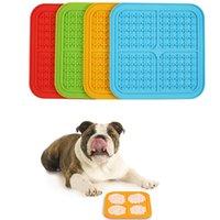 PET Besleme Yalama Mat Eğlenceli Alternatif Yavaş Besleyici Köpek Kase Silikon Sakinleştirici Ped Anksiyete Rölyef IQ Tedavi Paspaslar XBJK2103