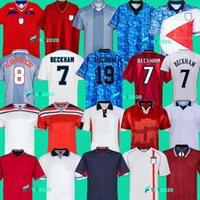 1996 Inghilterra maglia retrò calcio Gascoigne SHEARER McManaman SOUTHGATE classica annata Sheringham 96 98 casa lontano maglia da calcio Beckham