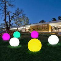 Luces de noche LED recargable al aire libre LED Bola de resplandor RGBW Wireless Orb Decor Light Garden Dormitorio IP65 Estado de ánimo impermeable