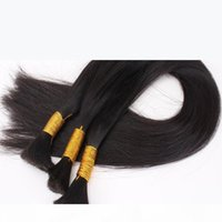 Brasiliano Bulk Bulk Bulk Capelli Nessuna trama Estensione di capelli lisci economici in Bulk 3 Bundles Deal Deal Squisito Tessuto Bulk Bulk Best Prodotti