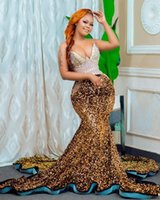 2021 Plus Size Arabic Aso Ebi Sparkly Mermaid Sexy Prom Dresses Crystals Sequined Sweetheart Evening Formal Party Second Reception Gowns Dress ZJ403