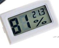 جديد أسود / أبيض مصغرة الرقمية LCD بيئة ميزان الحرارة الرطوبة الرطوبة درجة الحرارة متر في الغرفة الثلاجة الثلاجة icebox EWD5661