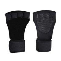 Paire de poignet de poignée de sport de nylon respirant Sport Palm Brace Entraînement Entraînement Protecteurs de Néoprène Grip avec ajustable