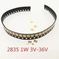 가벼운 구슬 100pcs SMD LED 2835 칩 1W 3V 6V 9V 130LM 표면 장착 PCB 방출 다이오드 램프