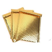 30pcs lot 18x23cm gold color Poly Bubble Mailer purple Self Seal Padded Envelopes mailing bags Padded Mailers Shipping Envelope OWA5384