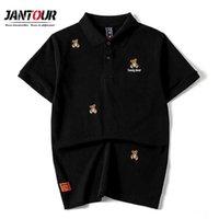 Spring Summer Tedey Oso Bordado Polo Camisa Polo Hombre Urbano Boys Streetwear Sweatshirt Hombre Plus Tamaño M-4XL 210707