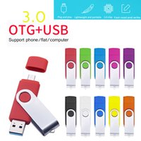 Over 10 PCS Free Logo USB 3.0 Pen Drive Flash Drives 64GB 32GB 16GB 8GB OTG Cle Stick for SmartPhone PC