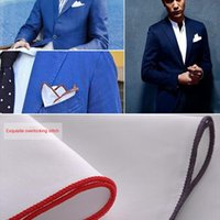 Bow Ties Fashionable Men's Dense Side White Pocket Towel Suit Accessories Handkerchief Square Cotton Colored Edge Scarf
