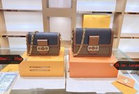Dauphine Bolsas Mulheres Luxurys Designers Sacos 2021 Tote Genuíno bolsa de couro bolsa de ombro saco crossbody