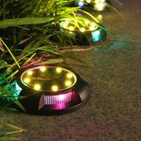 Zonne-lampen oprijlaan markeerlichten 8-pack Outdoor Dock Light IP68 Waterdichte LED Bright Warm Warm Wireless Security Warning Step Lighting