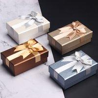 هدية مربع bowknot تزيين عيد ميلاد الحاضر حالة أحمر الشفاه هدايا صناديق التعبئة الحالات تذكارية حقيبة تخصيص شعار 7 ألوان WMQ987