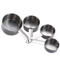Yeni4 adet Paslanmaz Çelik Ölçüm Bardak Aracı İstiflenebilir Kahve Süt Tozu Baharat Ölçümü Kaşık Setleri Ev Mutfak Pişirme Araçları EWB6775