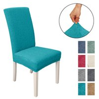 Chair Covers Home Solid Dining Seat Cover Banquet Stretch Spandex Waterproof Printing Party Decor 8 Colors D30