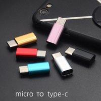 ميني مايكرو USB كابل 2.0 إلى الكتائب C USB 3.1 كابل نوع-C 3.0 سبائك الألومنيوم محول سريع شاحن USB-C محول مزامنة بيانات Huawei Xiaomi Andorid الهاتف