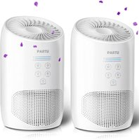 PAPERU HEPA مفتاح تنقية الهواء لدخان المنزل للمنزل مع سبونج العطر - 100٪ الأوزون الحرة، قفل مجموعة، يلغي الدخان، الغبار، حبوب اللقاح، pet pander، (يمكن استخدامها في كاليفورنيا)
