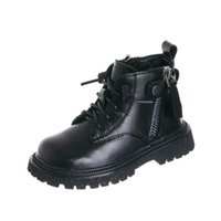 Baby Boots Kids Shoes Girls Boys Footwear Autumn Winte Leather Toddler Casual Cowhide Short Boot Infant Moccasins Soft Shoe B8579