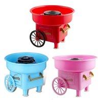 Nostalgia Trolley Algodão Doces Máquina Moda Mini Floss Maker Home Use Bancadora Elétrica Crianças Criativo Pipoca