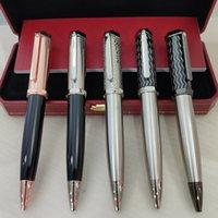 GiftPen Luxury Pens High Quality Clásico Herramientas de escritura Concavo Lattice Pluma Pluma Forma-Pen Cap Clip
