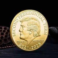 Дональд Трамп Монета 2021-2025 Второй Президент Термин Commorative Craft Храните Америку Большой Металлический Коллекционные монеты Знак