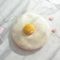Nice wind unisex basketball cap new handmade wool beanie painter creative garnish egg parent-child hut baby birthday gift
