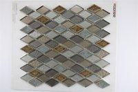 Mosaico Tile Rhombus Taupe Sala de estar Dormitorio Tv Fondo Balcón Baño Cocina Baño Azulejos de cerámica antideslizante