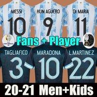 المشجعين لاعب نسخة الأرجنتين ميسي مارادونا لكرة القدم الفانيلة 2021 22 منزل بعيدا كون أجويرو دي ماريا لو celso مارتينيز كوريا لكرة القدم جيرسي قميص الرجال + Kids Kit - DCF